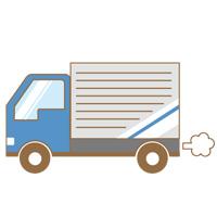 荷物を運んでいるトラック
